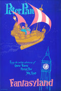 "Movie Posters:Animation, Peter Pan (Disney, 1950s). Disneyland Park Poster (36.5"" X54.25"").. ..."