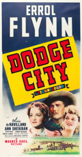"Movie Posters:Western, Dodge City (Warner Brothers, 1939). Three Sheet (41"" X 81"").. ..."
