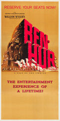 "Movie Posters:Academy Award Winners, Ben-Hur (MGM, 1959). Roadshow Three Sheet (41.75"" X 83.5"") AdvanceRainlap Style.. ..."