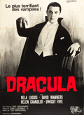 "Movie Posters:Horror, Dracula (Universal International, R-1966). French Grande (47"" X63"").. ..."