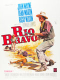 "Movie Posters:Western, Rio Bravo (Warner Brothers, R-1964). French Grande (47"" X 63"").. ..."