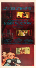 "Movie Posters:Hitchcock, Rear Window (Paramount, 1954). Three Sheet (41"" X 80"").. ..."