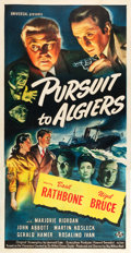 "Movie Posters:Mystery, Pursuit to Algiers (Universal, 1945). Three Sheet (41"" X 80"").. ..."