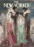 Mainstream Illustration, AMERICAN ARTIST (20th Century). The New Yorker, probable cover. Ink and watercolor on board. 12.5 x 9 in. (image). Signe...