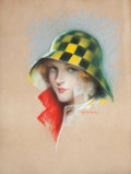 Pin-up and Glamour Art, CHARLES GATES SHELDON (American, 1889-1960). May Allison,Photoplay magazine cover, September 1927. Pastel on board.24....