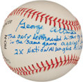 Autographs:Baseballs, George Altman Single Signed Baseball With Sandy KoufaxInscription....