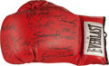 Boxing Collectibles:Autographs, Boxing Greats Multi Signed Glove....