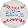 "Autographs:Baseballs, Gene Elston Single Signed Baseball With ""HoF"" Inscription...."