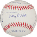 Autographs:Baseballs, Tony Kubek Single Signed Baseball With Lengthy Inscription....