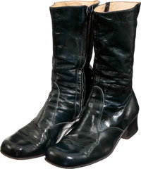 Elvis Presley Owned and Worn Patent Leather Boots