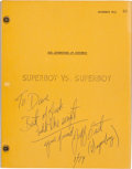 """Movie/TV Memorabilia:Documents, A Script from """"The Adventures of Superboy, 1961...."""