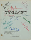 "Movie/TV Memorabilia:Autographs and Signed Items, A Cast Signed Script from ""Dynasty.""..."