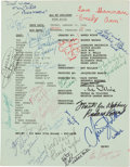 "Movie/TV Memorabilia:Documents, A Cast Signed Script from ""All My Children.""..."