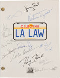 "Movie/TV Memorabilia:Autographs and Signed Items, A Cast Signed Script from ""LA Law.""..."