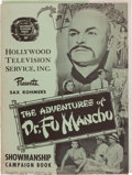 "Movie/TV Memorabilia:Documents, A Campaign Book from ""The Adventures of Dr. Fu Manchu.""..."