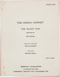 "Movie/TV Memorabilia:Documents, A Script from ""The Green Hornet.""..."