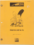 "Movie/TV Memorabilia:Documents, A Script from ""The Simpsons.""..."