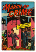 "Golden Age (1938-1955):Crime, March of Crime #2 Davis Crippen (""D"" Copy) pedigree (Fox Features Syndicate, 1950) Condition: FN/VF. Wally Wood art. Overstr..."
