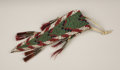 American Indian Art:Beadwork, A SIOUX MINIATURE BEADED HIDE BELT POUCH. . c. 1880. ...