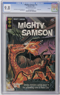 Mighty Samson #16 File Copy (Gold Key, 1968) CGC NM/MT 9.8 Off-white to white pages. Painted cover. Jack Sparling art. O...