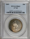 Patterns: , 1869 50C Standard Silver Half Dollar, Judd-743, Pollock-824, High R.6, PR63 PCGS. PCGS Population (5/6). NGC Census: (0/4)....