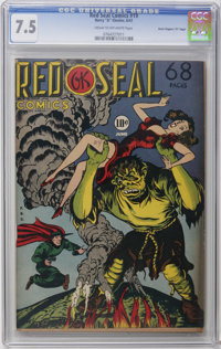 """Red Seal Comics #19 Davis Crippen (""""D"""" Copy) pedigree (Chesler, 1947) CGC VF- 7.5 Cream to off-white pages. Zo..."""