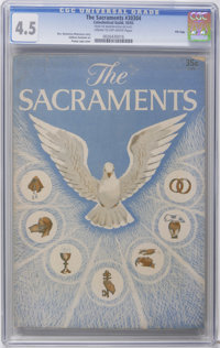 The Sacraments #30304 File Copy (Catechetical Guild, 1955) CGC VG+ 4.5 Cream to off-white pages. Addison Burbank art. Ha...