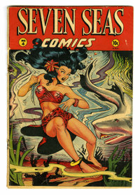 "Seven Seas Comics #4 (Universal Phoenix Feature, 1947) Condition: GD+. Overstreet ""classic"" Matt Baker cover..."