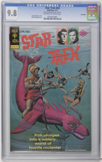 Star Trek #43 File Copy (Gold Key, 1977) CGC NM/MT 9.8 Off-white to white pages. George Wilson painted cover. Alden McWi...