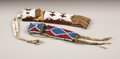 American Indian Art:Beadwork, TWO PLAINS BEADED LEATHER WHETSTONE CASES. c. 1885. ... (Total: 2Items)
