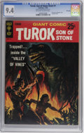 Silver Age (1956-1969):Adventure, Turok, Son of Stone Giant #1 File Copy (Gold Key, 1966) CGC NM 9.4 Off-white to white pages. Slick cover variation. Overstre...
