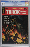 Silver Age (1956-1969):Adventure, Turok, Son of Stone Giant #1 File Copy (Gold Key, 1966) CGC VF+ 8.5 Off-white to white pages. Slick cover variation. Overstr...