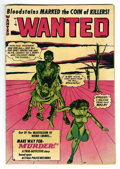 Golden Age (1938-1955):Horror, Wanted Comics #50 (Orbit, 1952) Condition: FN-. John Buscemasurrealistic cover. Contains horror stories. Overstreet notes, ...