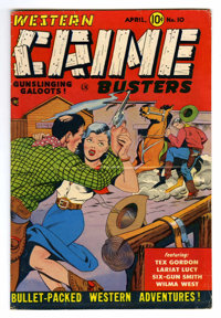 "Western Crime Busters #10 Davis Crippen (""D"" Copy) pedigree (Trojan Publishing, 1952) Condition: FN. Wally Woo..."