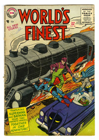 World's Finest Comics #80 (DC, 1956) Condition: GD/VG. Win Mortimer cover. Dick Sprang, George Papp, and Fred Ray art. O...