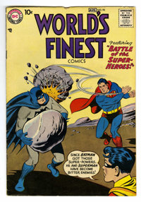 World's Finest Comics #95 (DC, 1958) Condition: VG/FN. Curt Swan cover. Dick Sprang, Fred Ray, and George Papp art. Over...