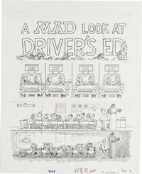 """Sergio Aragones - Mad #289, Complete 3-page Story """"'A Mad Look at Driver's Ed"""" Original Art (EC, 1989). Sergio..."""