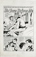 """Matt Baker and Vince Colletta (attributed) - Romance Stories of True Love #51, Complete 5-page story """"His Face Befo..."""