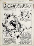 "Original Comic Art:Splash Pages, Arturo Cazeneuve (attributed) - Hello Pal #1, Complete 1-pageStory, ""Stamp Album"" Original Art (Harvey, 1943). Learn all ab..."