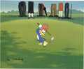 "Animation Art:Limited Edition Cel, ""Golfing Fool"" Limited Edition Hand Painted Cel #70/100 OriginalArt (Walter Lantz Productions, 1992). Recreated from origin...(Total: 2 Items)"