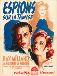 """Ministry of Fear (Paramount, 1944). First Post-War Release Printer's Proof French Affiche (23.5"""" X 31.5"""")"""