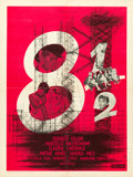 "Movie Posters:Drama, 8½ (Columbia, 1963). French Affiche (23.5"" X 31.5"").. ..."