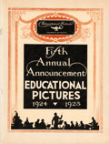 "Movie Posters:Miscellaneous, Educational Pictures Exhibitor Book (Educational, 1924). ExhibitorBook (16 Pages, 9.25"" X 12.25""). Miscellaneous.. ..."
