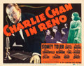 "Movie Posters:Mystery, Charlie Chan in Reno (20th Century Fox, 1939). Title Lobby Card(11"" X 14"").. ..."