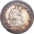 Seated Quarters, 1857 25C MS67 NGC....