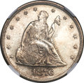 Twenty Cent Pieces, 1876 20C MS65 NGC....