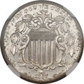 Proof Shield Nickels, 1867 5C Rays -- Environmental Damage -- NGC Details. Proof....