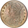 Bust Half Dollars, 1834 50C Large Date, Small Letters MS64 NGC. O-105, R.1....