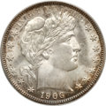 Barber Half Dollars, 1906-D 50C MS65 PCGS....