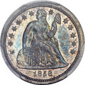 Proof Seated Dimes, 1856 10C PR64 PCGS. CAC....